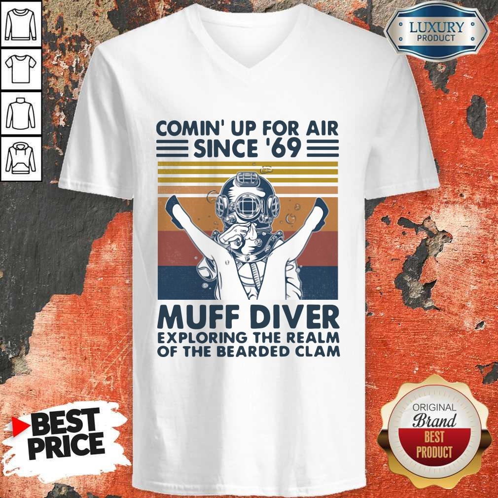 Vip Comin' Up For Air Since' 69 Muff Diver Exploring The Realm Of The Bearded Clam Vintage V-neck