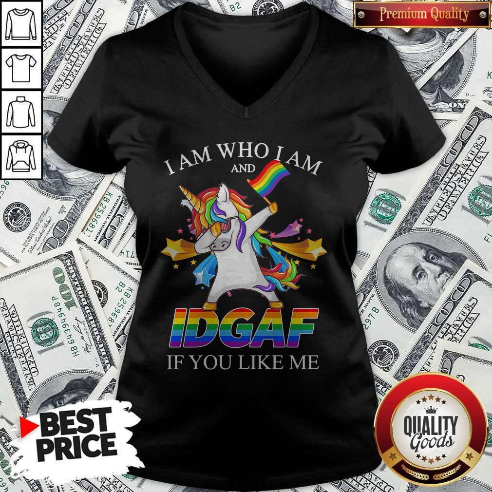 Vip Lgbt Unicorn I Am Who I Am And Idgaf If You Like Me V-neck
