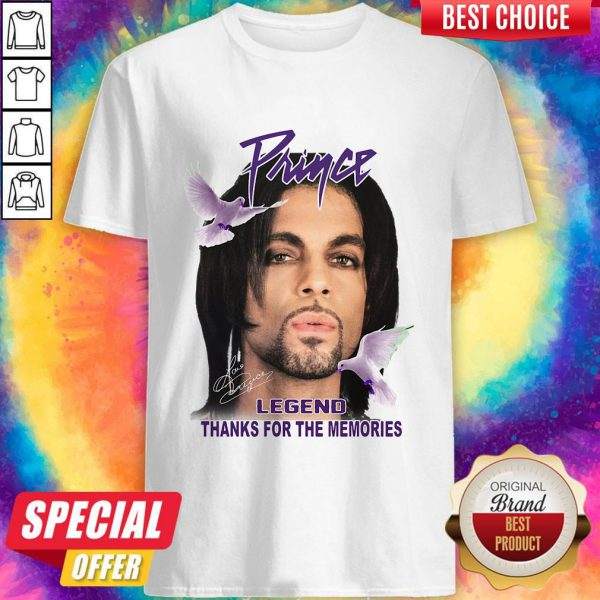 Cute Prince Legend Thanks For The Memories Signature Shirt