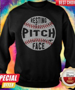Funny Baseball Resting Pitch Face Sweatshirt