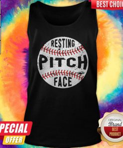 Funny Baseball Resting Pitch Face Tank Top