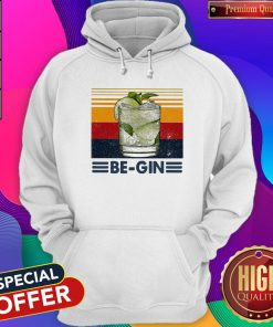 Funny Be Gin Whiskey Vintage Retro Hoodie