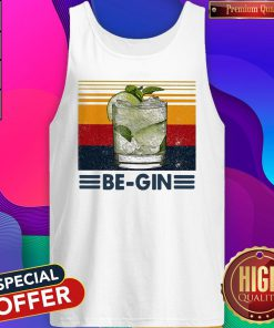 Funny Be Gin Whiskey Vintage Retro Tank Top