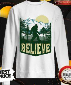 Funny Hiking Bigfoot Forest Believe Sweatshirt