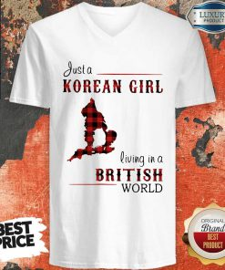 Funny Just A Korean Girl Living In A British World V-neck