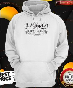 Hot Black Cat Trading Company Since 1875 Potions Brews Elixirs Hoodie