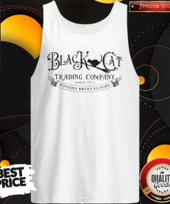 Hot Black Cat Trading Company Since 1875 Potions Brews Elixirs Tank Top