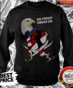 Hot Eagles Cav Forever American Flag Independence Day Sweatshirt