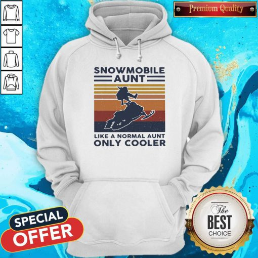 Hot Snowmobile Aunt Like A Normal Aunt Only Cooler Vintage Retro Hoodie