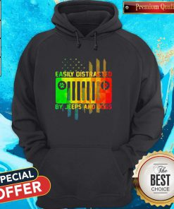 Maybe Easily Distracted By Jeeps And Dogs Paw Hoodie