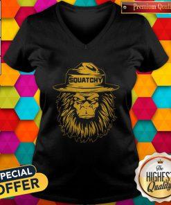 Maybe I Like Squatchy Bigfoot V-neck
