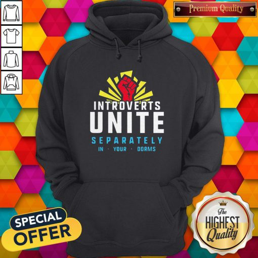 Maybe Introverts Unite Separately In Your Dorms Hoodie