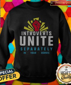 Maybe Introverts Unite Separately In Your Dorms Sweatshirt