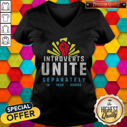 Maybe Introverts Unite Separately In Your Dorms V-neck