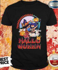 Maybe Witch Mask Yaaa Hallo Queen Halloween shirt