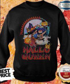 Maybe Witch Mask Yaaa Hallo Queen Halloween Sweatshirt