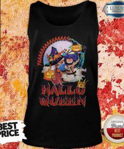 Maybe Witch Mask Yaaa Hallo Queen Halloween Tank Top