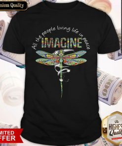 Nice Dragonfly All The People Living Life In Peace Imagine Shirt