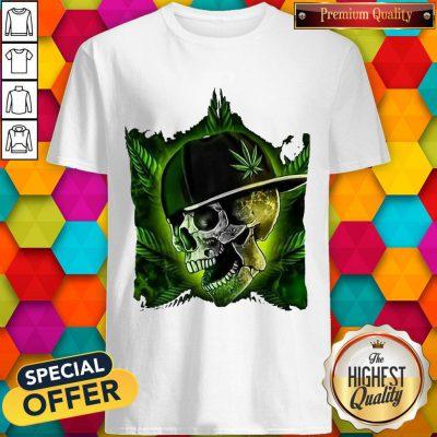 Nice Hip Hop Skull Weed Cannabis Halloween Shirt