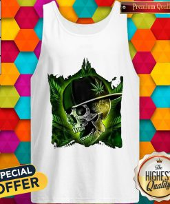 Nice Hip Hop Skull Weed Cannabis Halloween Tank Top