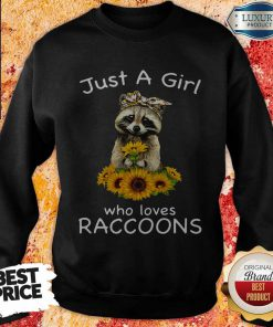 Nice Sunflower Just A Girl Who Loves Raccoons Sweatshirt