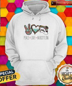 Official Peace Love Hairsytling Hoodie