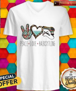 Official Peace Love Hairsytling V-neck