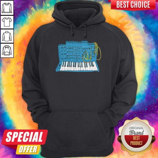 Official Synthesizer Blue Machine Hoodie
