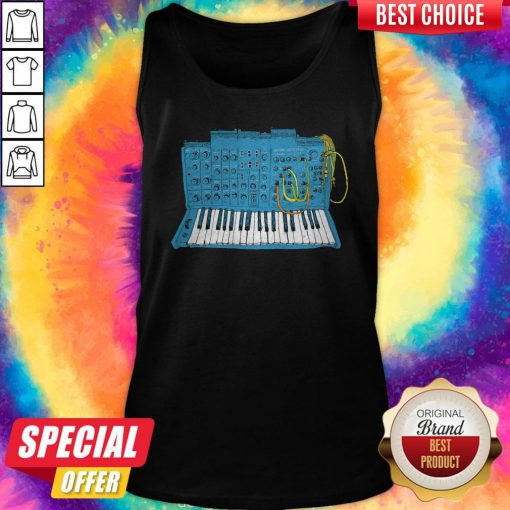 Official Synthesizer Blue Machine Tank Top