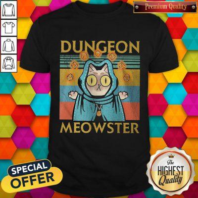 Premium Cat Dungeon Meowster Vintage Retro Shirt