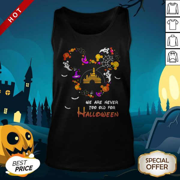 Premium Disney We Are Never Too Old For Halloween Tank Top