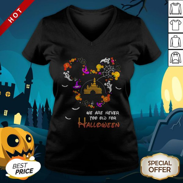 Premium Disney We Are Never Too Old For Halloween V-neck
