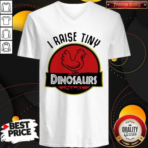 Premium I Aise Tiny Dinosaurs Chicken V-neck
