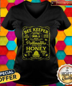 Pro BeeKeeper 100 Genuine Old Time No 1 Brand Limited Edition Pollinator Pure Raw Honey 100 Bee Love Uncooked Grade V-neck