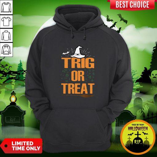 Pro Halloween Math Teacher Trig Or Treat Student School College Unisex Hoodie