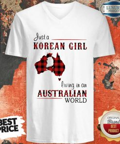 Sweet Just A Korean Girl Living In A Australian World V-neck