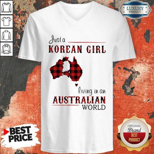 Sweet Just A Korean Girl Living In A Australian World V-neck