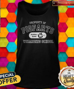 Sweet Property Of Pigfarts Rumble Roar Wizarding School Tank Top