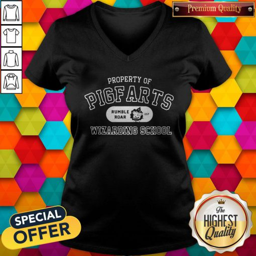Sweet Property Of Pigfarts Rumble Roar Wizarding School V-neck