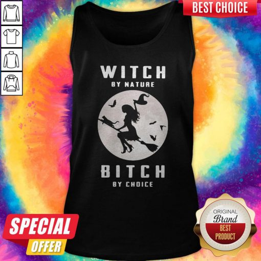 Sweet Witch By Nature Bitch By Choice Moon Halloween Tank Top