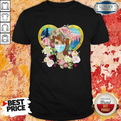 Top Hippie Nature Fitted Forest Flowers Mask Shirt