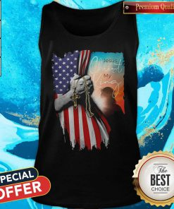 Top Jesus Christ My King American Flag Independence Day Tank Top