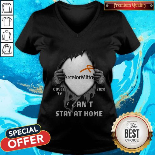 Vip Arcelormittal Inside Me Covid-19 2020 I Can't Stay At Home V-neck