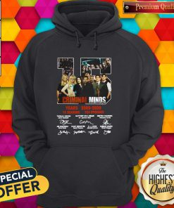 Vip Criminal Minds 15 Years 2005 2020 15 Seasons 324 Episodes Signature Hoodie