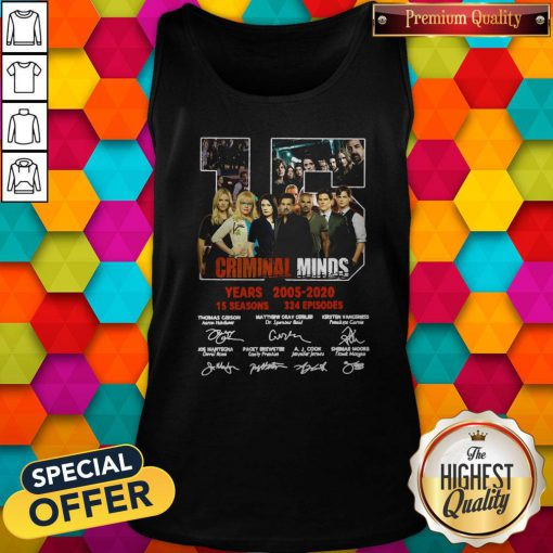 Vip Criminal Minds 15 Years 2005 2020 15 Seasons 324 Episodes Signature Tank Top