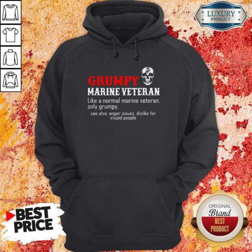 Vip Grumpy Marine Veteran Like A Normal Marine Veteran Only Grumpy Hoodie