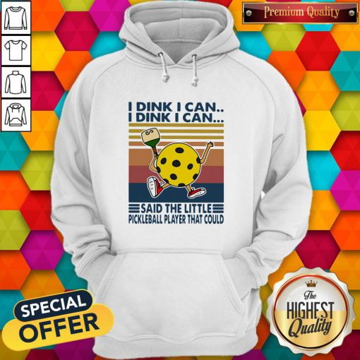 Vip I Dink I Can Said The Little Pickleball Player That Could Vintage Retro Hoodie