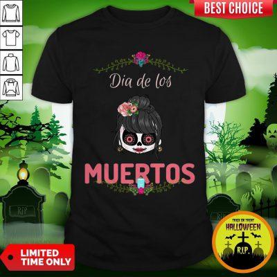 Cute Sugar Skull Dia De Los Muertos Day Of The Dead Shirt