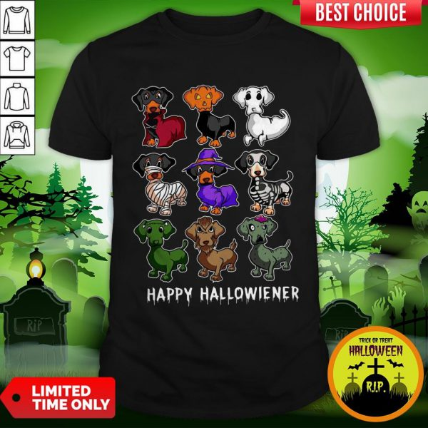 Dachshund Happy Halloweiner Funny Halloween Dogs Lover Gifts Shirt
