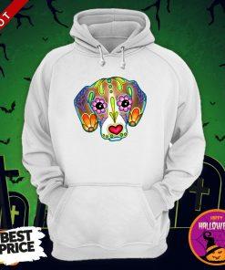 Day Of The Dead Beagle Sugar Skull Dog Day Dead Dia De Los Muertos Hoodie